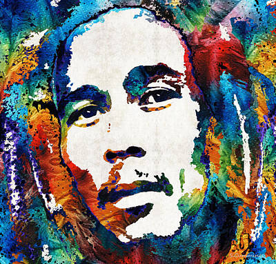Colors Of Reggae - Bob Marley Tribute Poster by Sharon Cummings