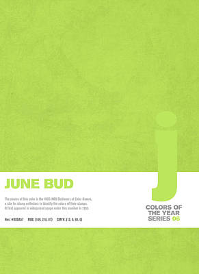 Colors Of The Year Series 06 Graphic Design June Bud Poster by Design Turnpike