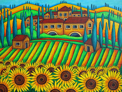 Colours Of Tuscany Poster by Lisa  Lorenz