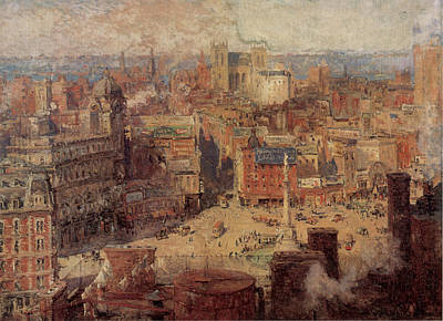 Columbus Circle New York Poster by Colin Campbell Cooper