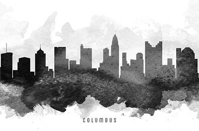 Columbus Cityscape 11 Poster by Aged Pixel