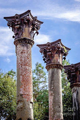 Columns Of Windsor Ruins Poster by Joan McCool
