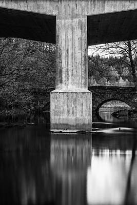 Concrete Vs Stone Bridge Poster by Toppart Sweden
