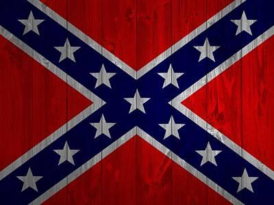 Confederate Flag Barn Door Poster by Dan Sproul