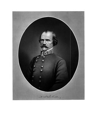 Confederate General Albert Sidney Johnston Poster by War Is Hell Store