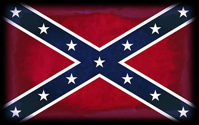 Confederate Rebel Battle Flag Poster by Daniel Hagerman