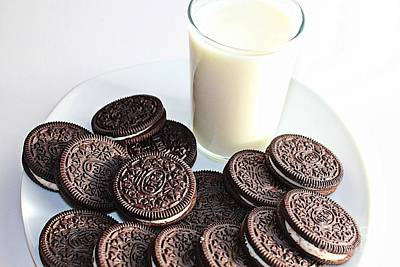 Cookies And Milk Poster by Barbara Griffin