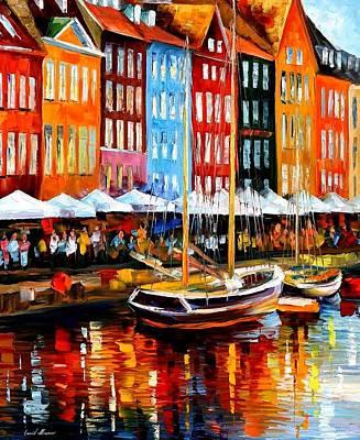 Copenhagen Denmark Poster by Leonid Afremov