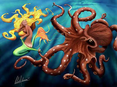 Coppertone Mermaid Poster by Robert Johnson