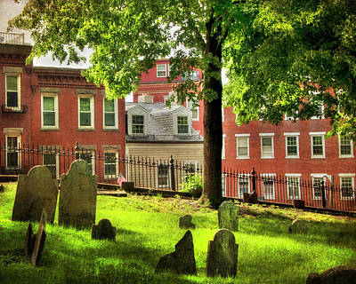 Copp's Hill Burial Ground - North End - Boston Poster by Joann Vitali