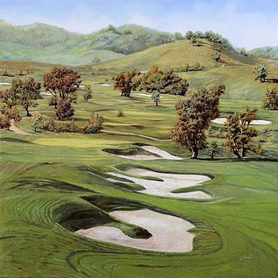 Cordevalle Golf Course Poster by Guido Borelli