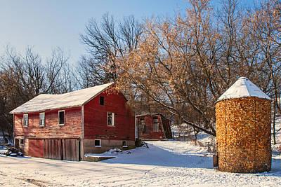 Corn Cribbed Barn Poster by Todd Klassy