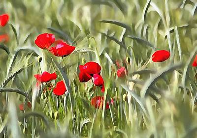 Corn Poppies Poster by Tracey Harrington-Simpson