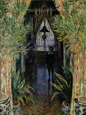 Corner Of A Flat At Argenteuil Poster by Claude Monet