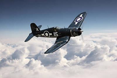 Corsair F4u - Royal Navy Poster by Pat Speirs