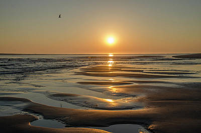 Corson's Inlet At Sunrise In Strathmere New Jersey Poster by Bill Cannon