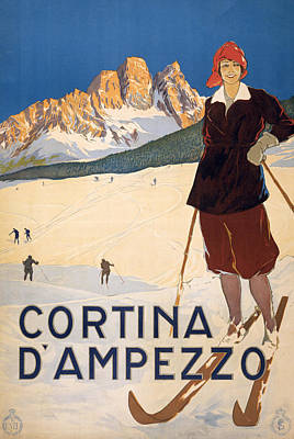 Cortina D'ampezzo Poster Poster by Italian School