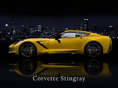 Corvette Stingray Poster by Mark Rogan