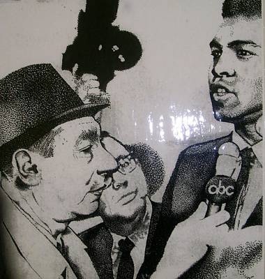 Cosell And Clay Poster by Keith Burnette