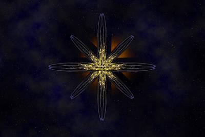 Cosmic Star In A Star Field Poster by Pelo Blanco Photo