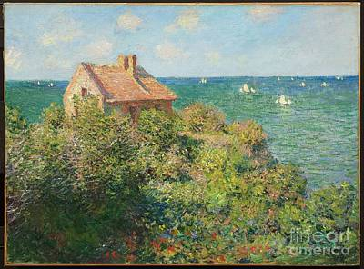 Cottage On The Cliffs Poster by MotionAge Designs