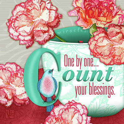 Count Your Blessings Poster by Valerie Drake Lesiak