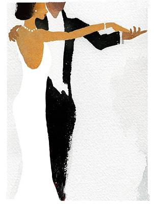 Couple Dressed Up And Slow Dancing Poster by Gillham Studios