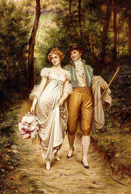 Courtship Poster by Joseph Frederic Charles Soulacroix
