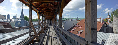 Covered Bridge With St Olafs Church Poster by Panoramic Images