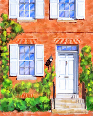 Cozy Rowhouse Style Poster by Mark Tisdale