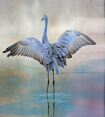 Crane Dance Poster by Suzi Harr