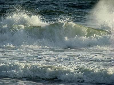 Crashing Wave Poster by Sandy Keeton