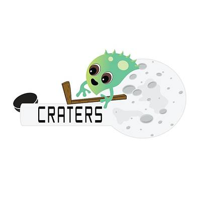 Craters Logo Poster by Moon Toons