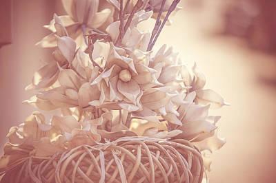 Creamy Vintage Dream. Dutch Flowers Poster by Jenny Rainbow