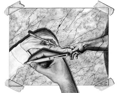 Creators Hand At Work Poster by Peter Piatt