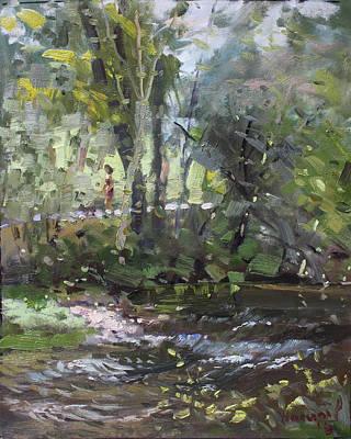 Creek At Three Sisters Islands Poster by Ylli Haruni