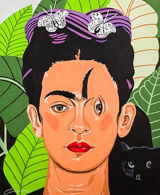 Criss Cross Frida Poster by Joe Ciccarone