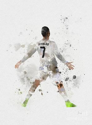 Cristiano Ronaldo Poster by Rebecca Jenkins