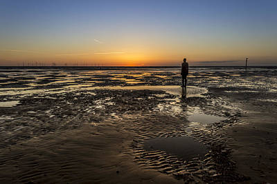 Crosby Beach Sunset Poster by Paul Madden
