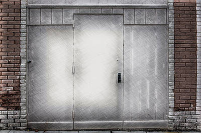 Crosshatched Doors Poster by John Haldane
