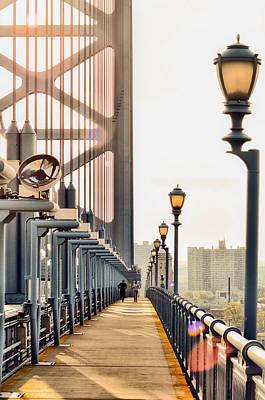 Crossing The Benjamin Franklin Bridge Poster by Bill Cannon