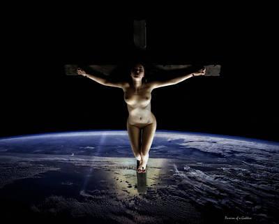 Crucified Tellus Poster by Ramon Martinez