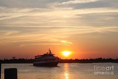 Cruising At Sunset Poster by John Telfer