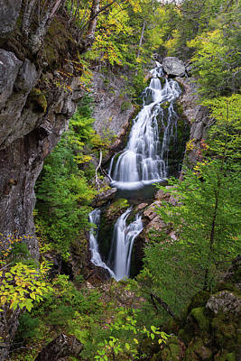 Crystal Cascade Autumn Poster by Bill Wakeley