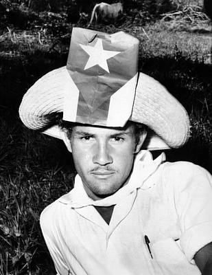 Cuban Patriot Wearing A Flag Decorated Poster by Everett