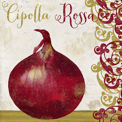 Cucina Italiana Onion Poster by Mindy Sommers