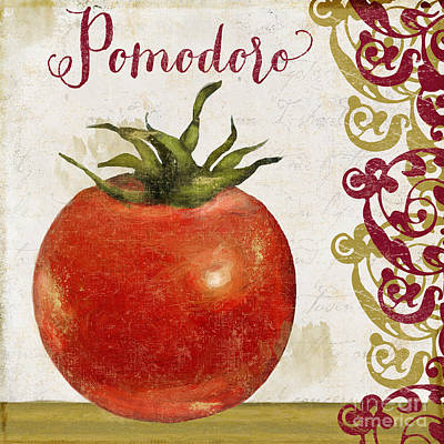 Cucina Italiana Tomato Pomodoro Poster by Mindy Sommers