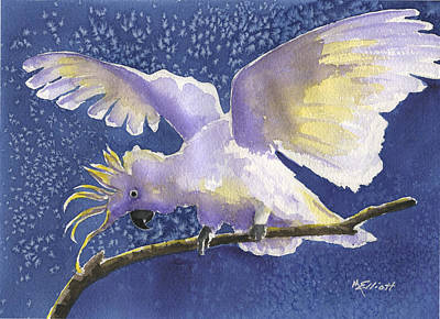 Cuckoo Cockatoo Poster by Marsha Elliott