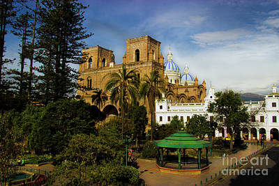 Cuenca Is A World Heritage Site Poster by Al Bourassa