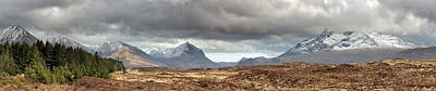 Cuillin Panorama Poster by Grant Glendinning